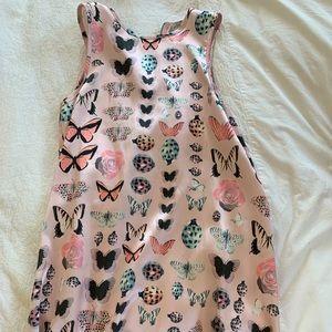 Kimchi Blue UO pink satin butterfly dress